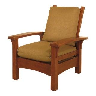 Stickley Mission Oak Bowed Arm Morris Chair