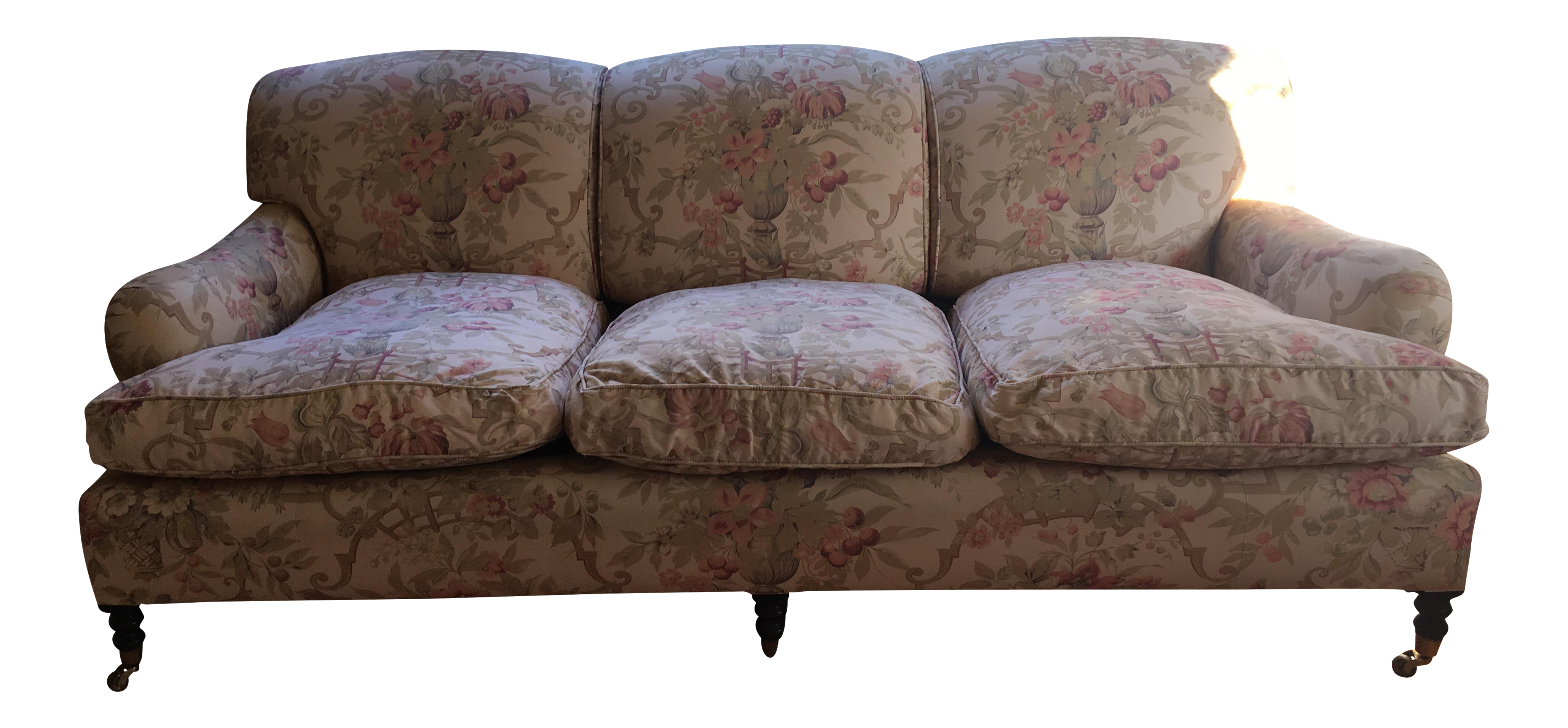Exceptional Floral George Smith Signature Sofa