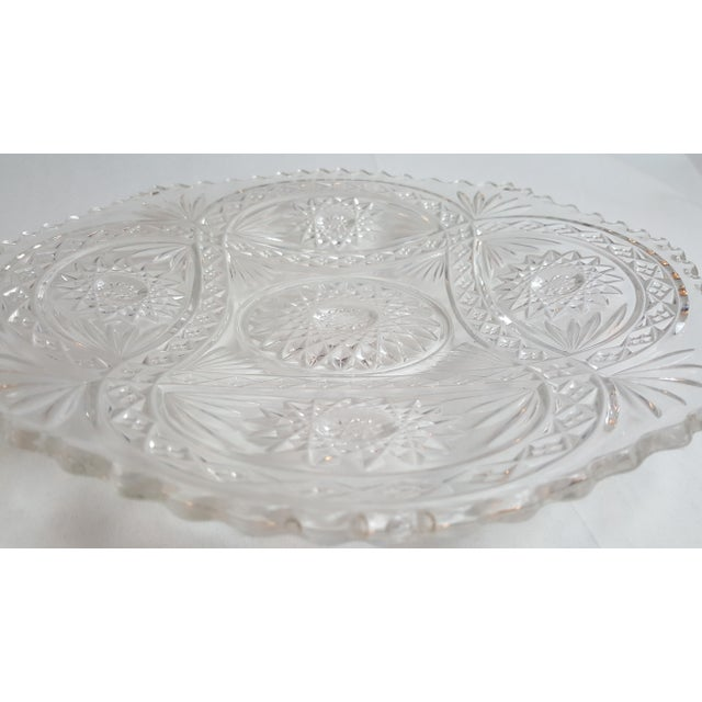 Shallow Patterned Glass Bowl/Platter - Image 4 of 4