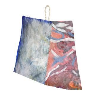 "Jessalin Beutler ""Sad"" Linen Painting"