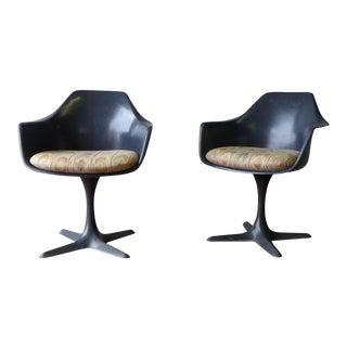 Saarinen Style Mid Century Modern Side Chair by Burke