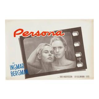 """Vintage Original 1967 Ingmar Bergman """"Persona"""" Film Poster"""