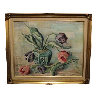 Margery Delatour Vintage Still Life Oil Painting