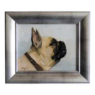 French Bulldog Oil Portrait Painting