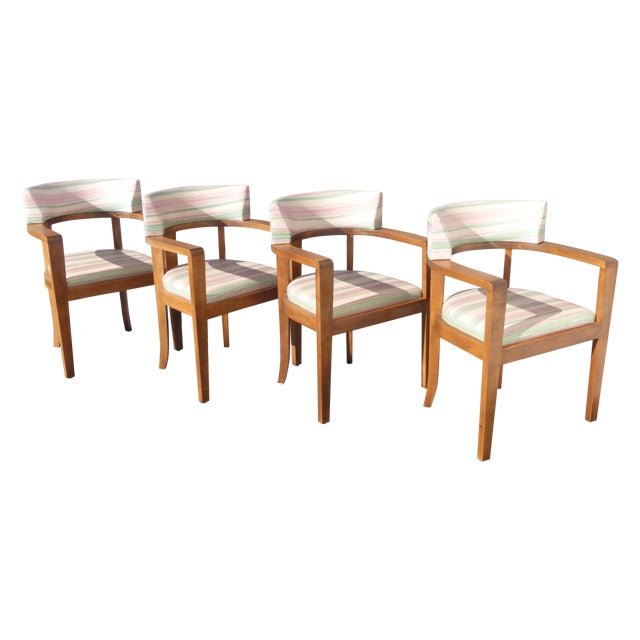 Mid-Century Danish Modern Leather Arm Chairs - 4 - Image 1 of 11