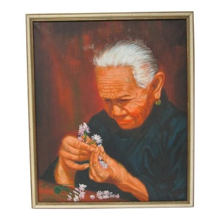 Portrait of Old Asian Woman