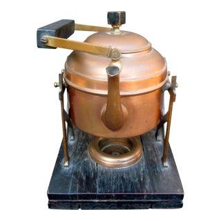 Circa 1900 Antique Victorian Manning Bowman & Co Copper Percolator Teapot