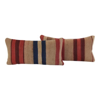 Striped Turkish Kilim Pillows- A Pair