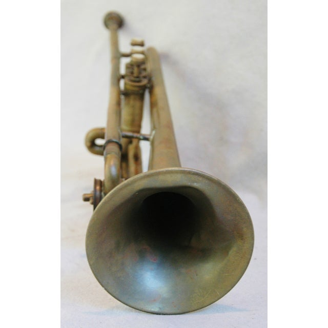Antique Brass Trumpet Horn - Image 5 of 8