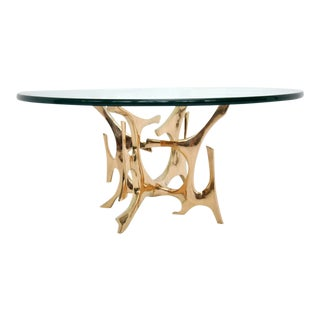 Fred Brouard Bronze Sculpture Coffee Table