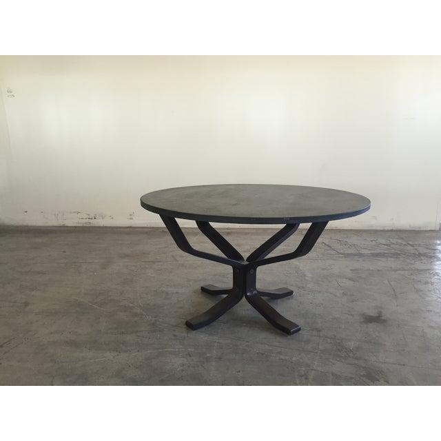 Mid Century Modern Slate Coffee Table - Image 2 of 6