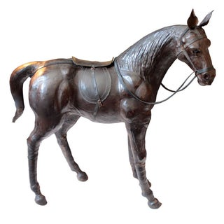 Leather Horse Sculpture