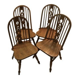 Noble Wheel Fiddle Back Chairs - Set of 4