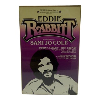 """Vintage """"Eddie Rabbitt"""" Concert Poster"""