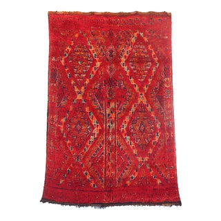 "Vintage Beni M'Guild Moroccan Berber Rug - 5'7"" X 8'9"""