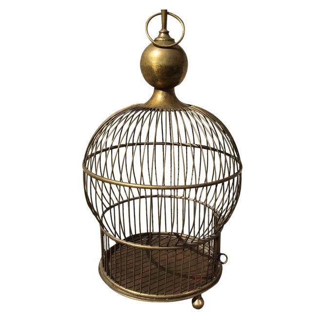 1940's Large Brass Bird Cage - Image 1 of 5