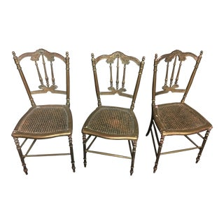 Antique Victorian Cottage Chairs - Set of 3