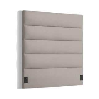 West Elm Panel-Tufted Queen Headboard - Platinum