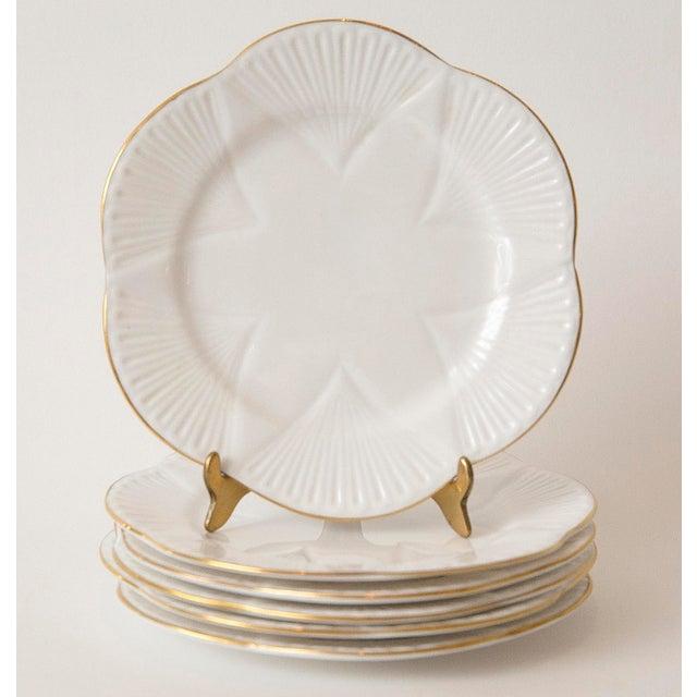 Vintage Shelley Fine Porcelain Dessert Plates -S/6 - Image 3 of 9