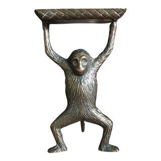 Vintage Solid Brass Monkey Business Card Holder