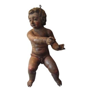 Rare, Painted Italian Cherubs