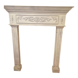Traditional White Painted Wooden Mantel