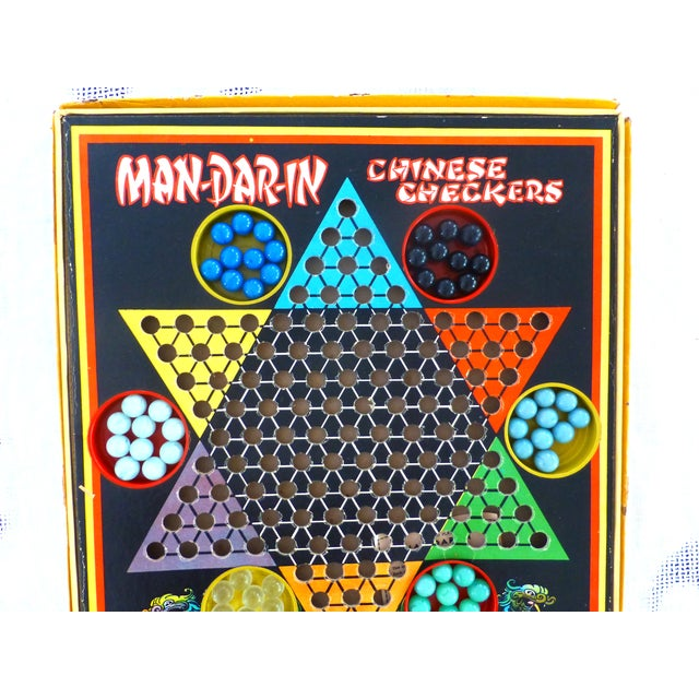 Vintage Man-Da-Rin Chinese Checkers Game, Complete - Image 3 of 7