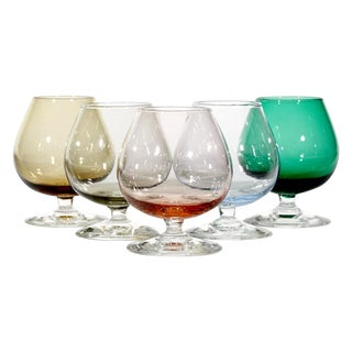 1960's Multicolored Cordial Shots - Set of 5