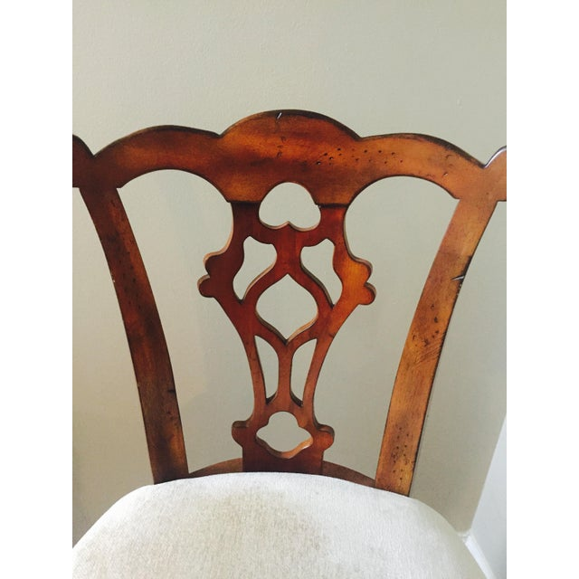 Traditional Wooden Swivel Bar Stools - A Pair - Image 3 of 6