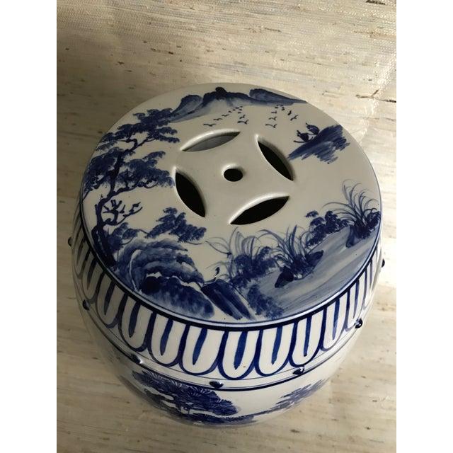 Antique Chinoiserie Ceramic Garden Stool - Image 4 of 6