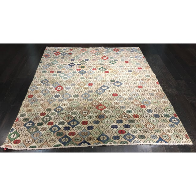 "Bellwether Rugs Vintage Turkish Zeki Muren Rug - 5'9""x7'5"" - Image 2 of 8"