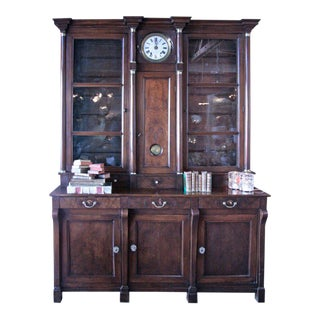18th C. Empire Credenza with Clock