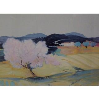 """Open Fields"" Print by Claude Hemeret"