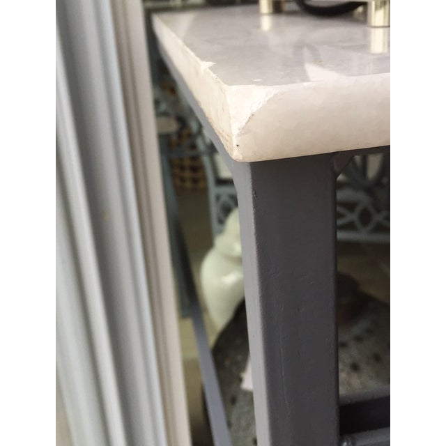 Antique Marble Top Console Table - Image 7 of 11