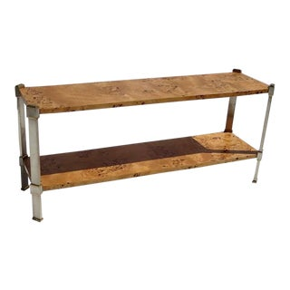 Burled Myrtle Wood Console or Sofa Table