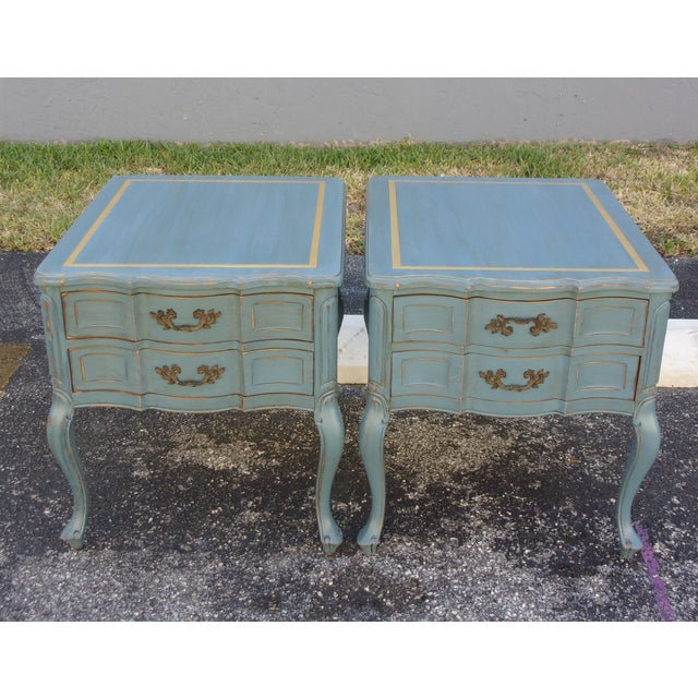 Vintage French Provincial Nightstands - A Pair - Image 3 of 10