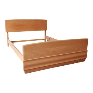 Heywood Wakefield Sculptura Mid-Century Modern Full Size Bed in Champagne