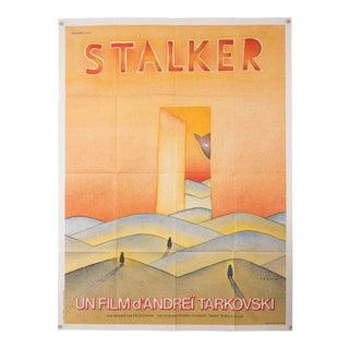 """Vintage French Andrei Tarkovsky """"Stalker"""" film poster"""