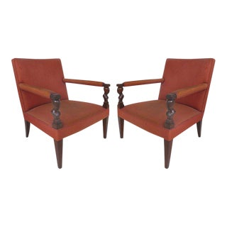 "Donghia ""Rushmore"" Armchairs by John Hutton, Pair"