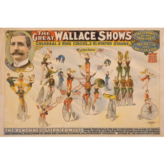 Late 19th-C. Renowned Stirk Family Circus Print