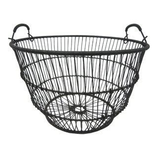 Rustic Antique Iron Lobster Basket