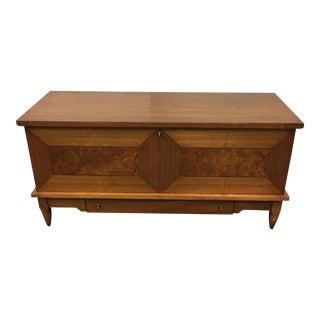 Lane Furniture Mid-Century Cedar Lined Walnut Trunk