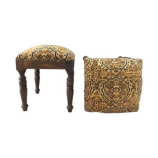 Stools W/ Turkish Carpets - Pair