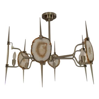 Emporium Home Eclipse Agate Nickel Chandelier