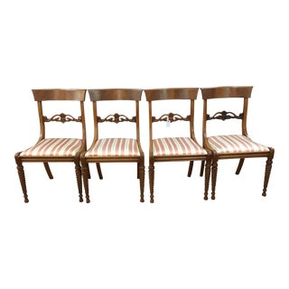 Rope Twist Leg Dining Chairs- Set of 4