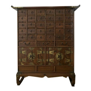 Antique Chinese 35 Drawer Apothecary Cabinet