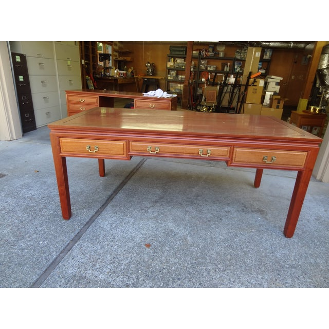Solid Rosewood Table Desk - Image 2 of 5