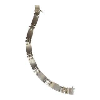Georg Jensen Sterling Silver Art Deco Bracelet No. 48 by Oscar Gundlach-Pedersen
