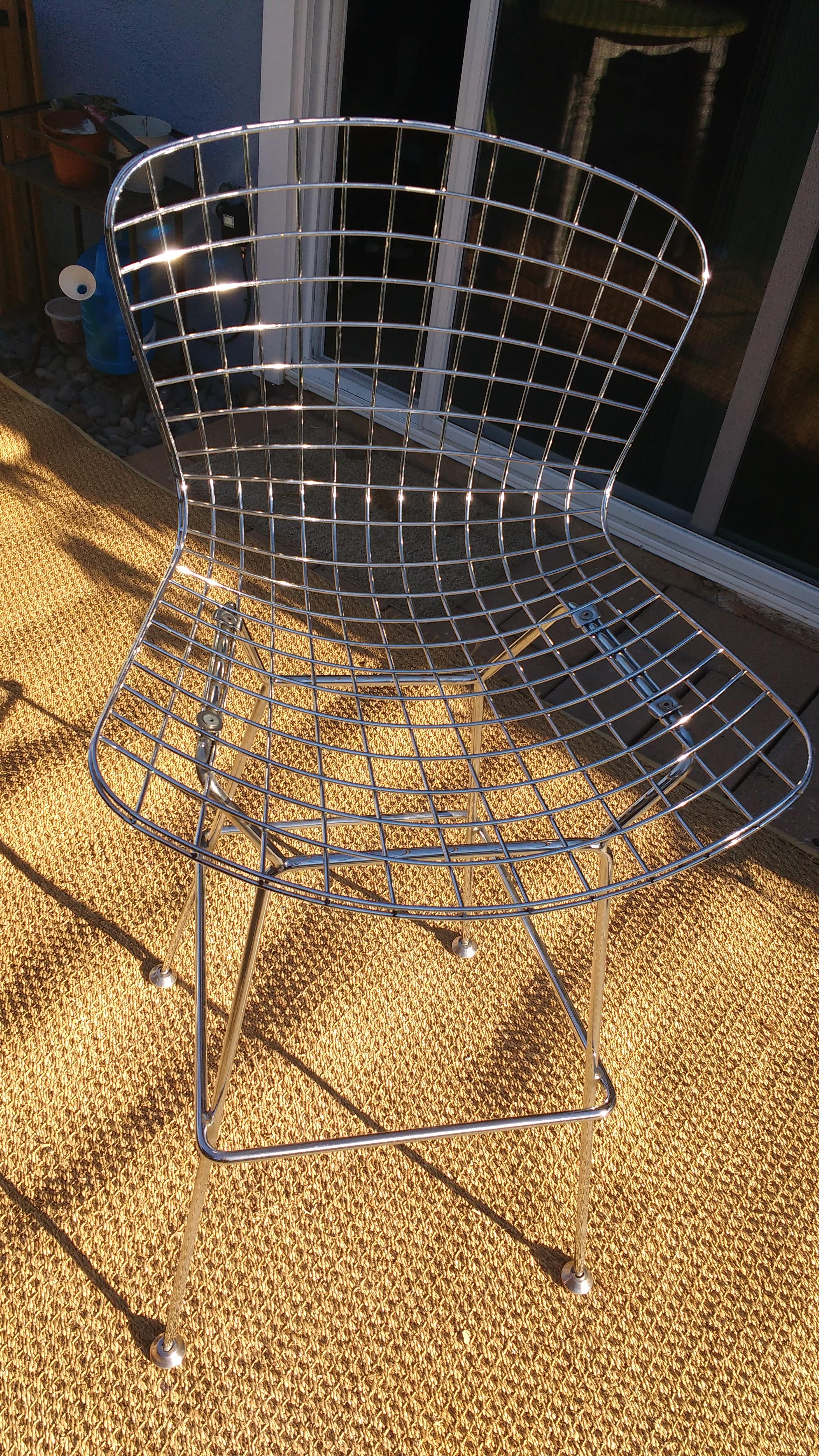 Harry Bertoia Style Wire Counter Stool Chairish
