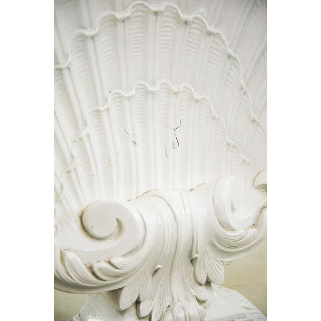 Nautical Seashell White Lacquered Entryway Table - Image 7 of 11